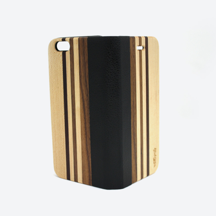 Houten iPhone 6 flipcase bright open