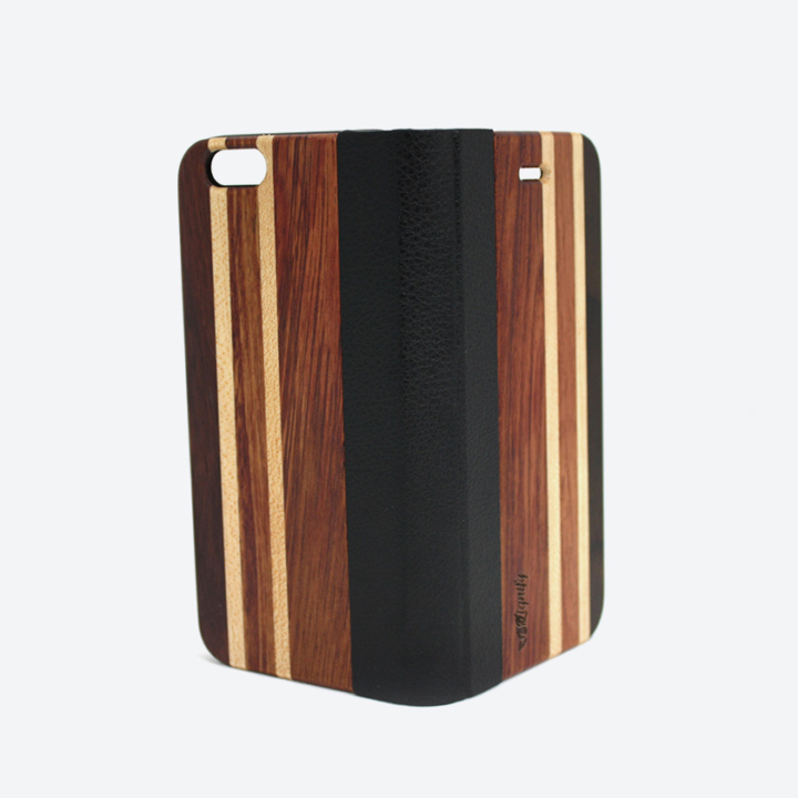 Houten iPhone 6 flipcase casual open