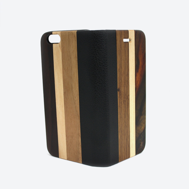 Houten iPhone 6 flipcase dark open