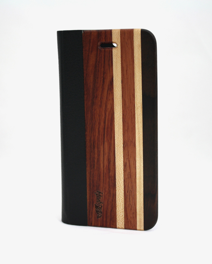 Houten iPhone 6 flipcase casual